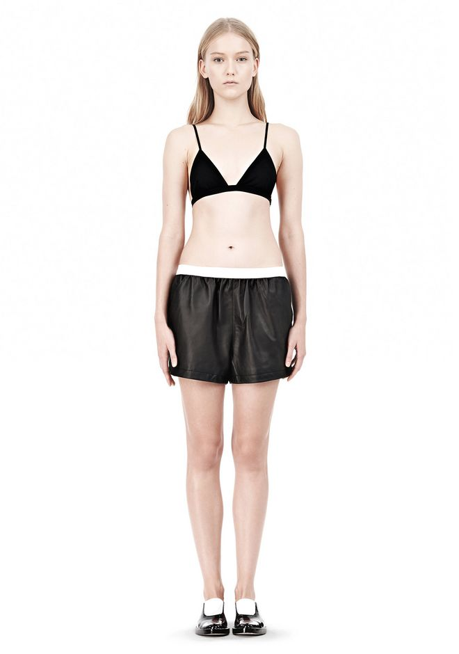 T by ALEXANDER WANG LUX PONTE TRIANGLE BRA TOP Adult 12_n_f