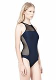 T by ALEXANDER WANG MESH COMBO RACERBACK ONE PIECE SWIMSUIT Swimwear Adult 8_n_d