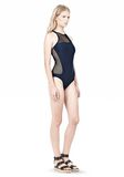 T by ALEXANDER WANG MESH COMBO RACERBACK ONE PIECE SWIMSUIT Swimwear Adult 8_n_e