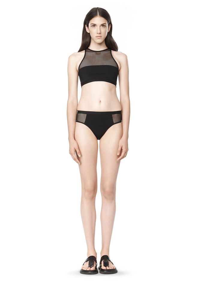 T by ALEXANDER WANG MESH COMBO BIKINI BRIEFS Swimwear Adult 12_n_f