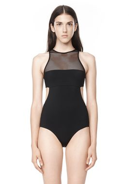 MESH COMBO ONE PIECE SWIMSUIT
