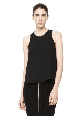 POLY CREPE TANK TOP