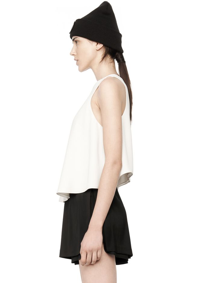T by ALEXANDER WANG POLY CREPE TANK TOP  TOP Adult 12_n_a
