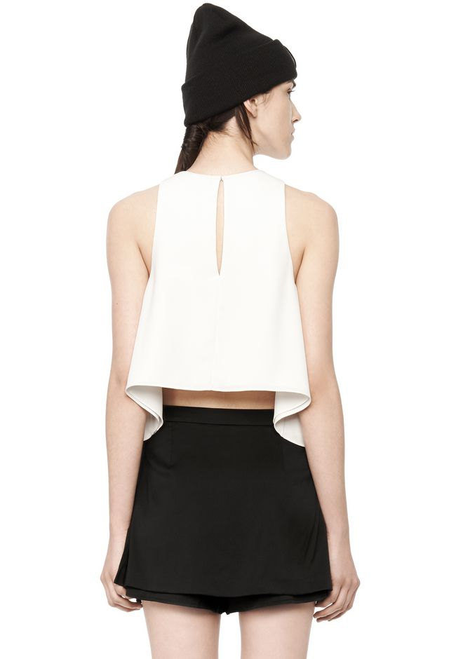 T by ALEXANDER WANG POLY CREPE TANK TOP  TOP Adult 12_n_d