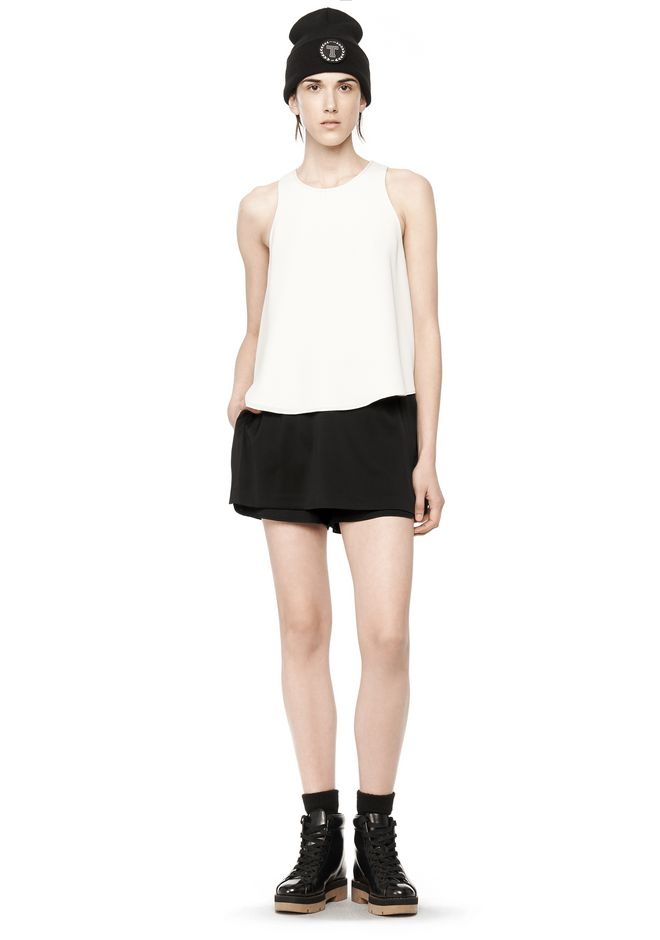 T by ALEXANDER WANG POLY CREPE TANK TOP  TOP Adult 12_n_f