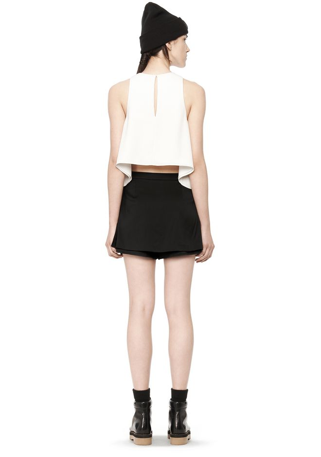 T by ALEXANDER WANG POLY CREPE TANK TOP  TOP Adult 12_n_r