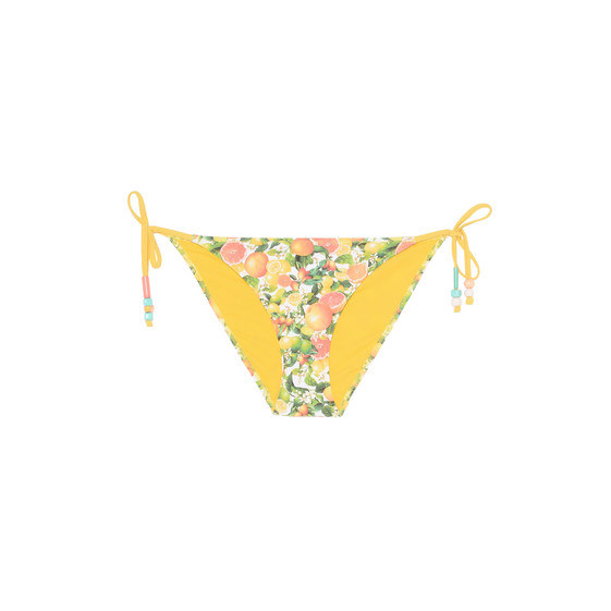Citrus print tie side bikini bottoms