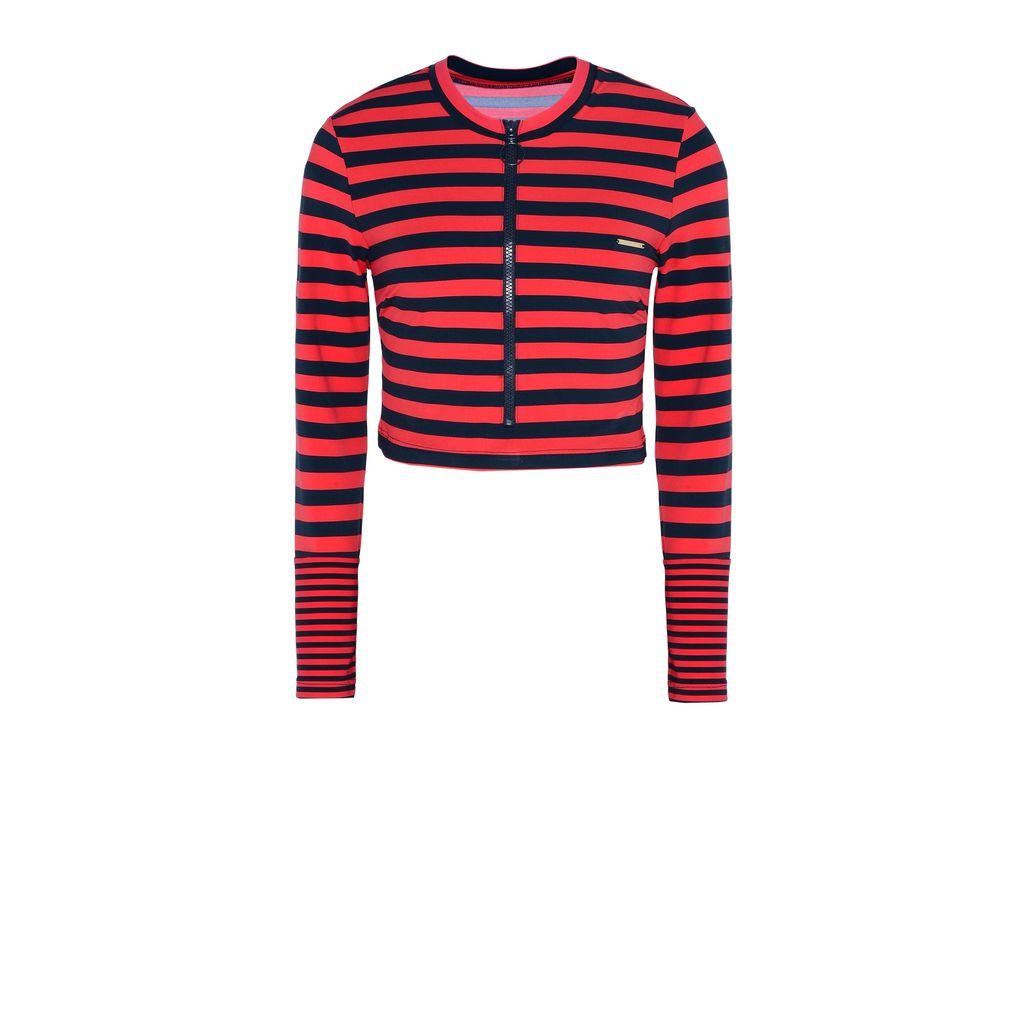 Flame stripe cropped rashguard  - STELLA MCCARTNEY