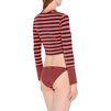 STELLA McCARTNEY Flame stripe cropped rashguard  Swim Tshirt D e