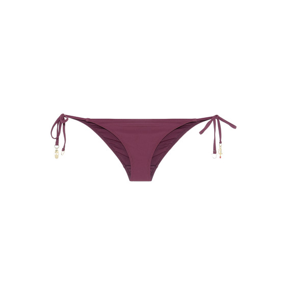 Claret tie side bikini bottoms