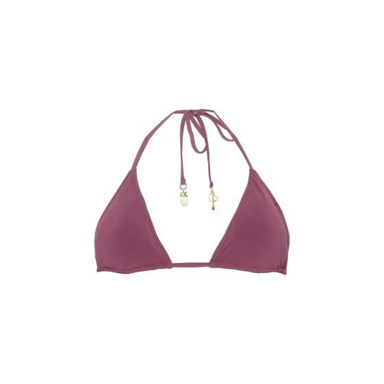 Claret triangle bikini top
