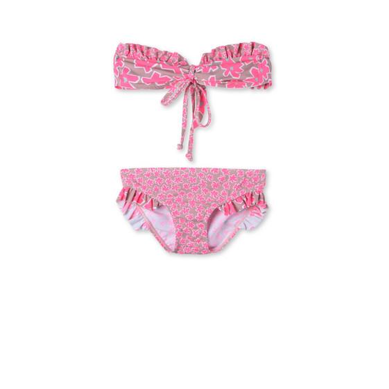 Pink Graphic Flowers Marilene Bikini
