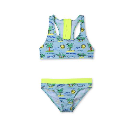 Fluro Beach Print Koko Bikini