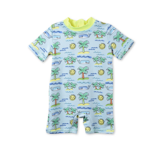 Fluro Beach Print Sonny All-in-One