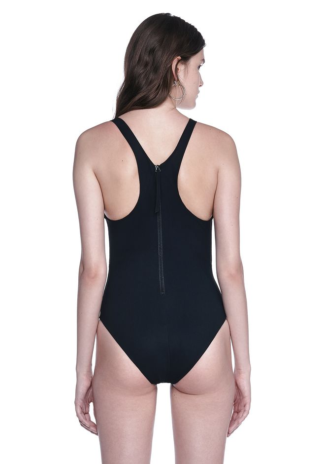ALEXANDER WANG V-NECK ONE PEICE FISH LINE SWIMSUIT Swimwear Adult 12_n_d
