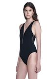 ALEXANDER WANG V-NECK ONE PIECE FISH LINE SWIMSUIT Swimwear Adult 8_n_a