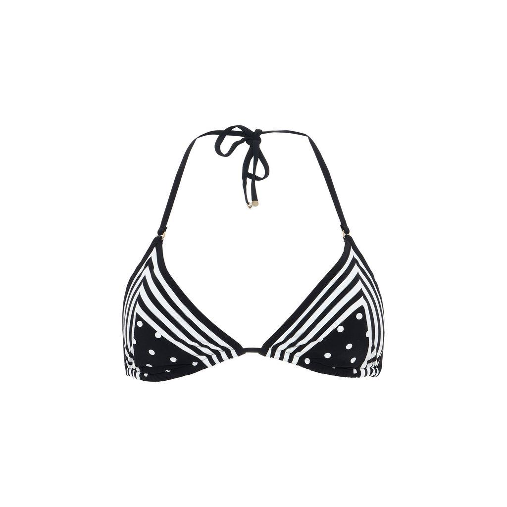 Black printed triangle bikini top  - STELLA MCCARTNEY