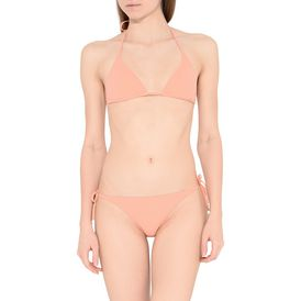 Faded Coral Tie Side Bikini Bottoms