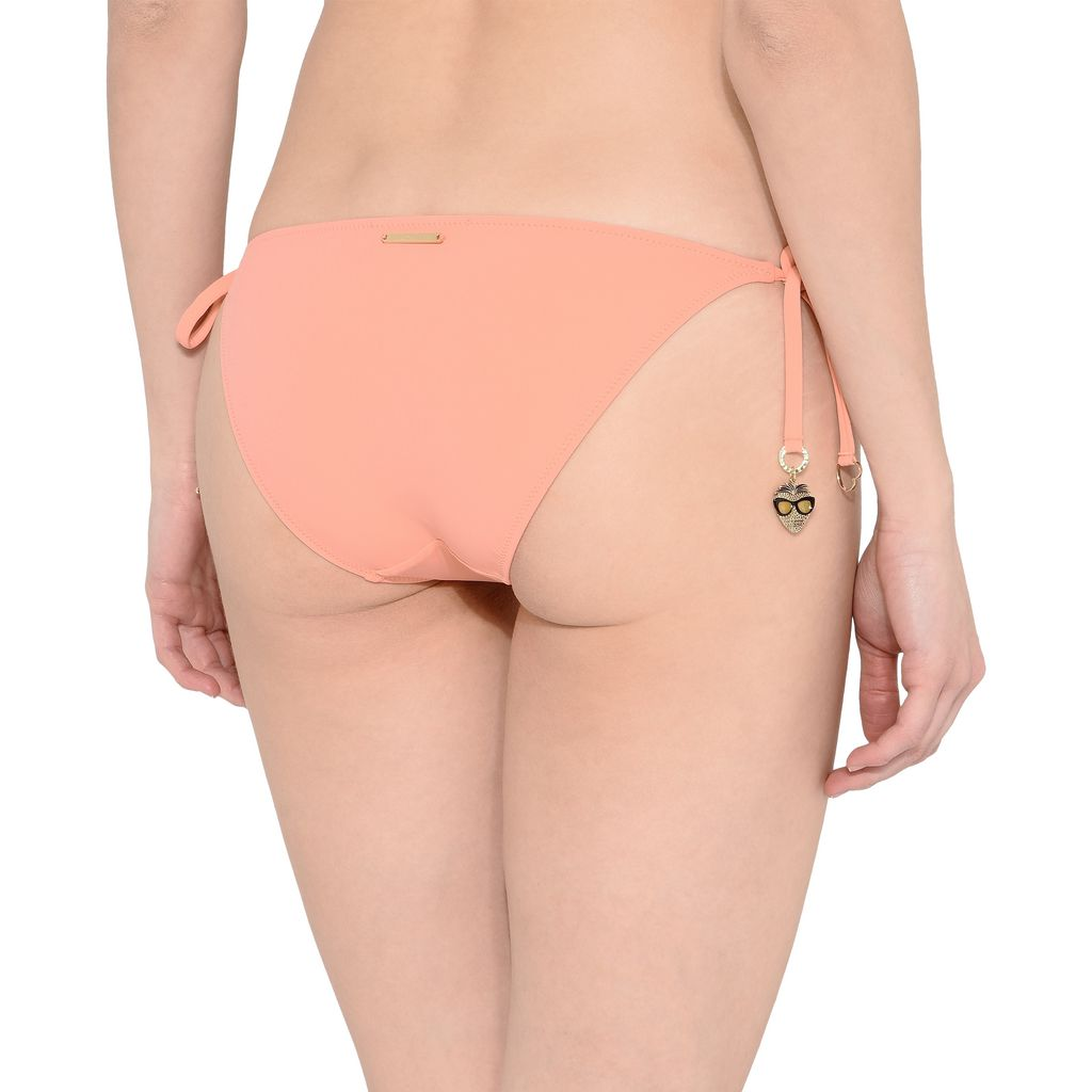 Faded Coral Tie Side Bikini Bottoms - STELLA MCCARTNEY