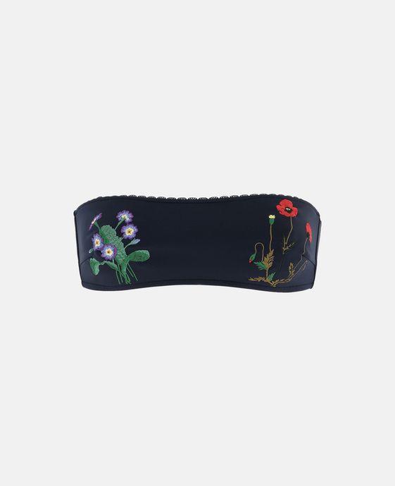 STELLA McCARTNEY Botanical Embroidered Bandeau Bikini Top Bikinis D c