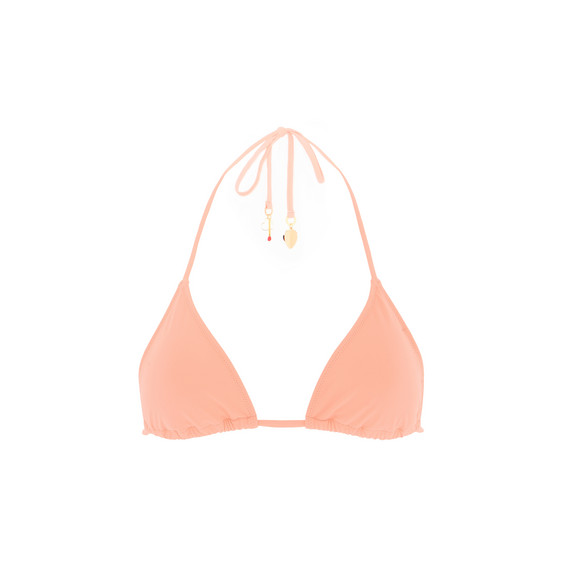 Faded Coral Triangle Bikini Top