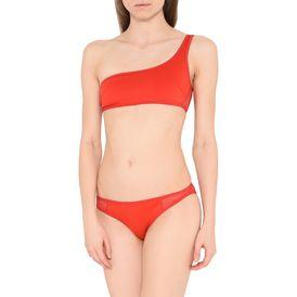 Red One Shoulder Bikini Top