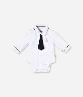 KARL LAGERFELD ROMPER SHIRT AND TIE