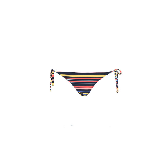 Multicolour Stripes Tie Side Bikini Bottoms
