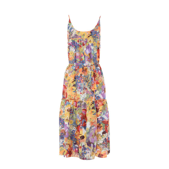 Floral Print Maxi Dress Cover Up