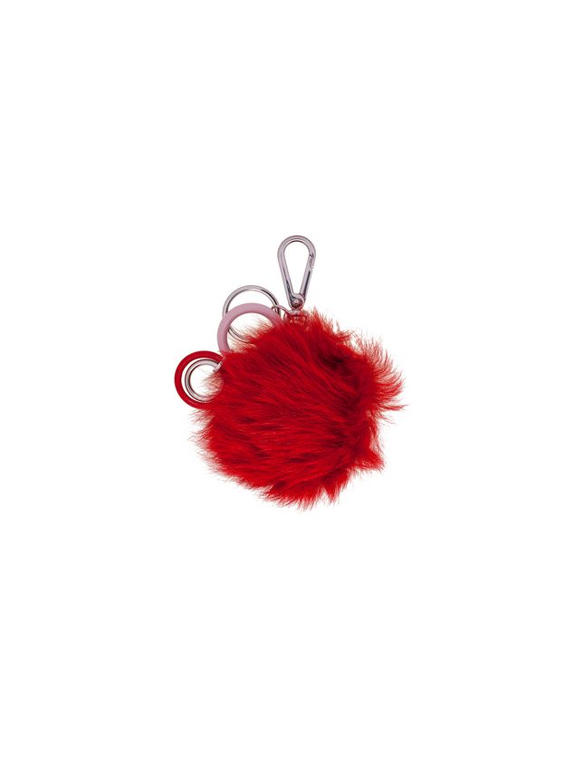 Marni Pom-pom pendant in fur Woman - 1