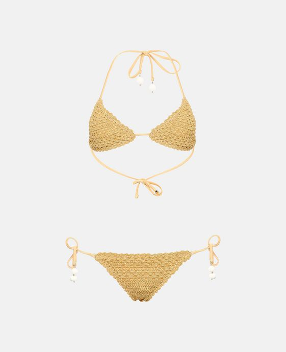Golden Crochet Bikini Set
