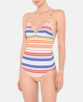 Stripe Print Swimsuit