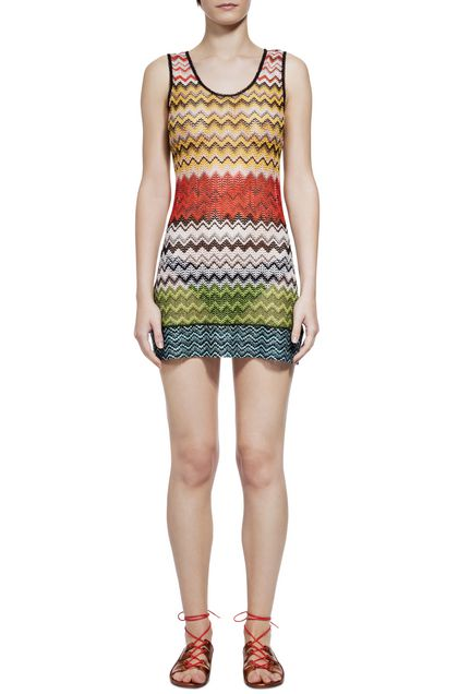 MISSONI MARE Short Beach Dress Red Woman - Back