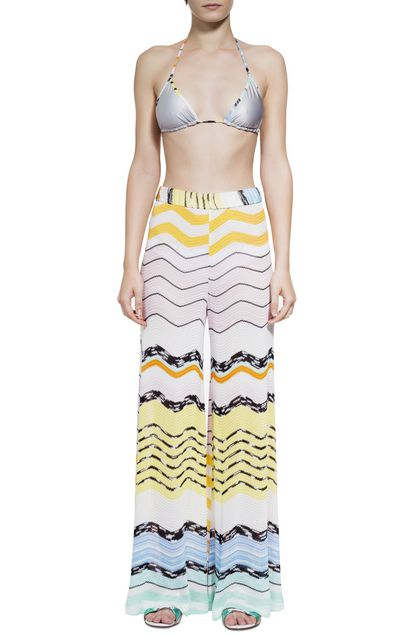 MISSONI MARE Beachwear pants Yellow Woman - Back