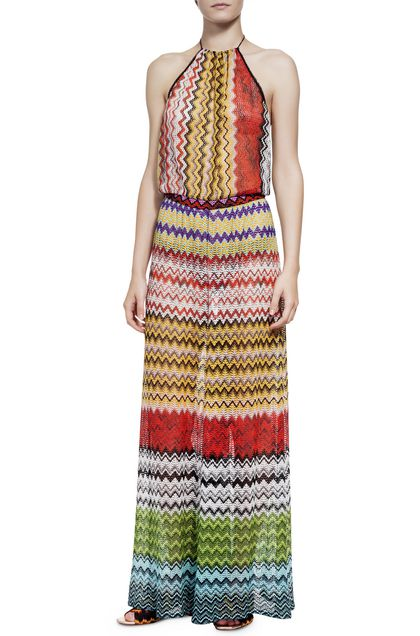MISSONI MARE Beach Jumpsuit Ochre Woman - Back