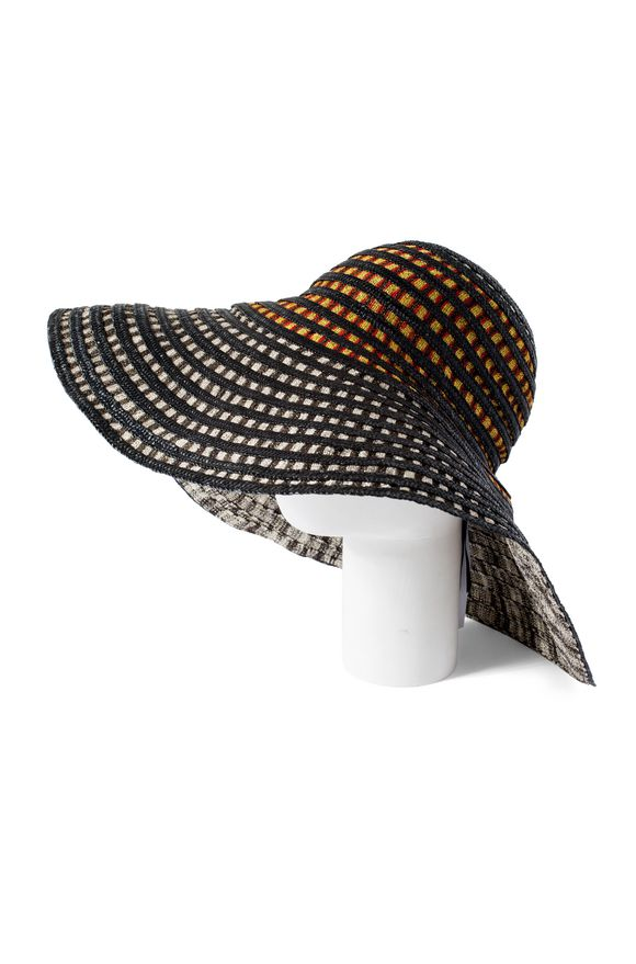 Missoni Beach Hat Woman Rear View