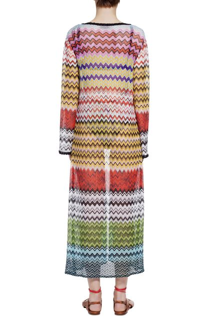 MISSONI MARE Long beach coverall Brick red Woman - Front