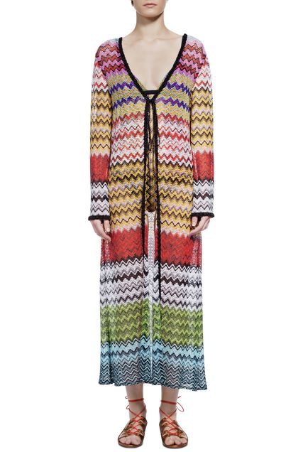 MISSONI MARE Long beach coverall Brick red Woman - Back