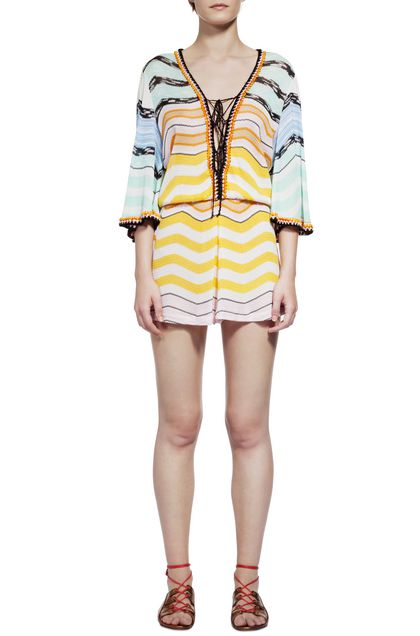 MISSONI MARE Short Beach Dress Yellow Woman - Back