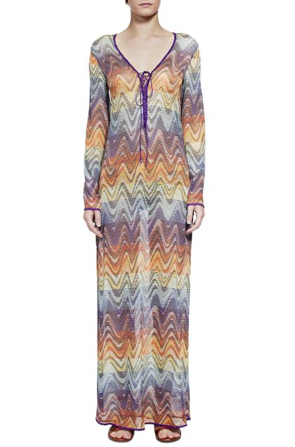MISSONI MARE Long beach coverall Brown Woman - Back