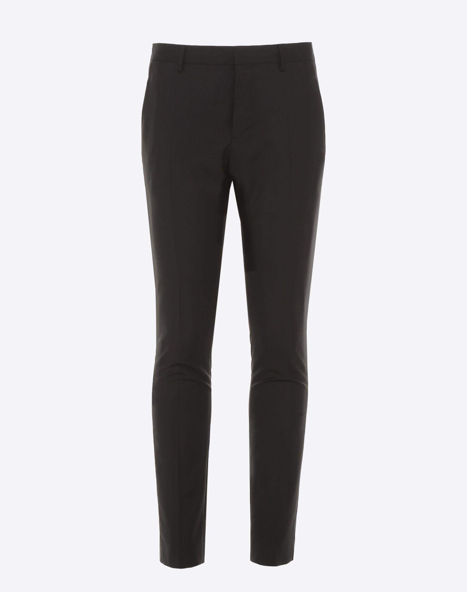 VALENTINO Slim-fit wool pants Pants U f