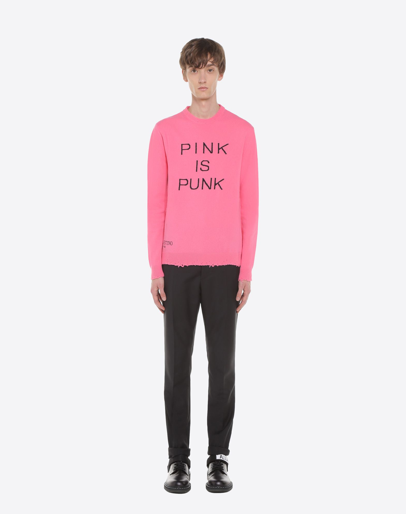 VALENTINO Slim-fit wool pants Pants U r