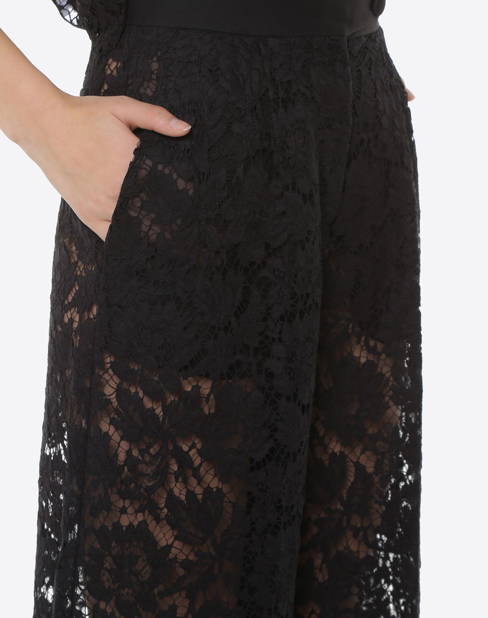 VALENTINO Heavy lace culottes Pants D a