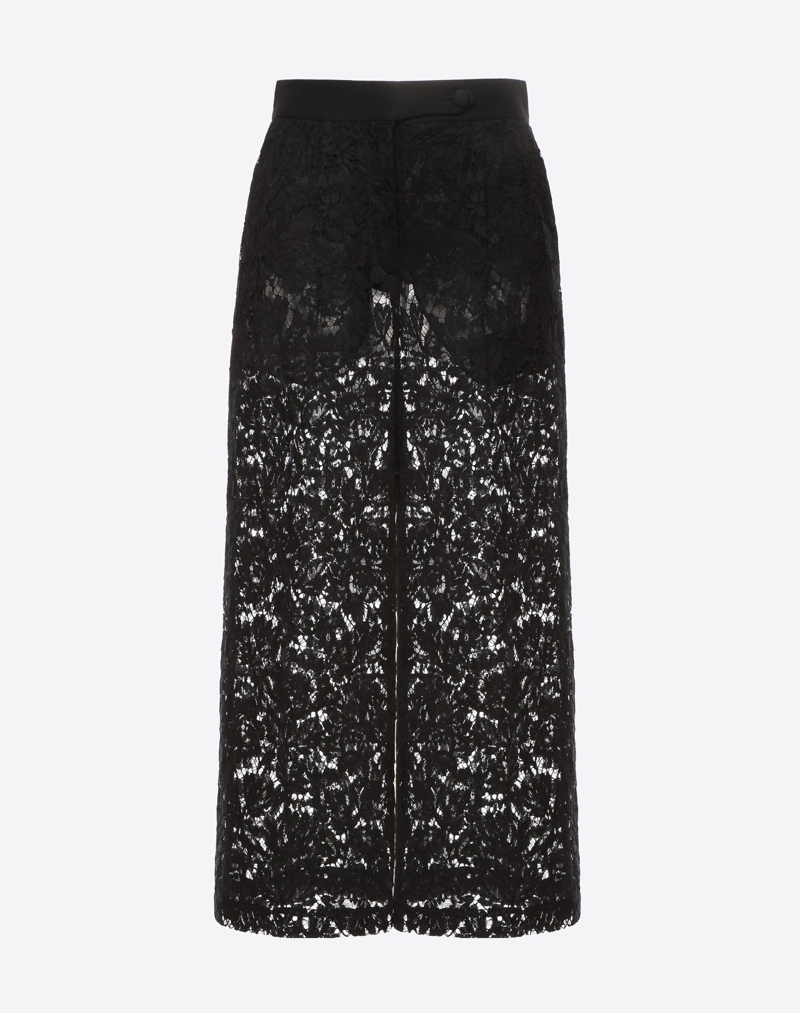 VALENTINO Heavy lace culottes Pants D f