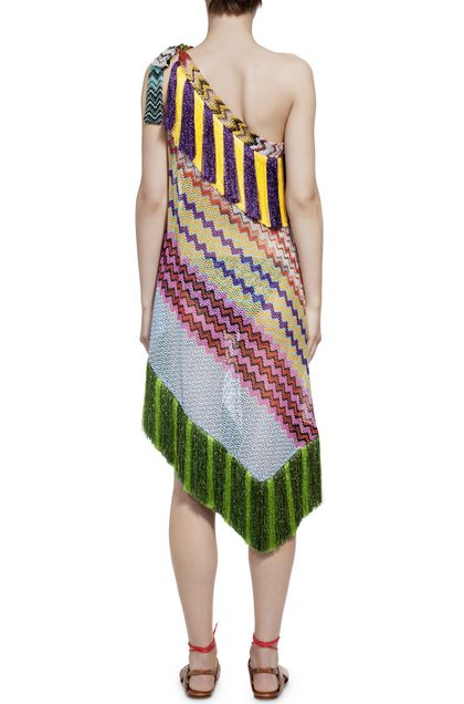 MISSONI MARE Short Beach Dress Green Woman - Front