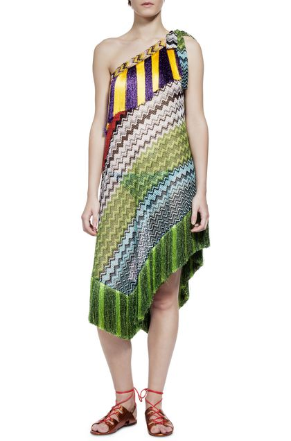 MISSONI MARE Short Beach Dress Green Woman - Back
