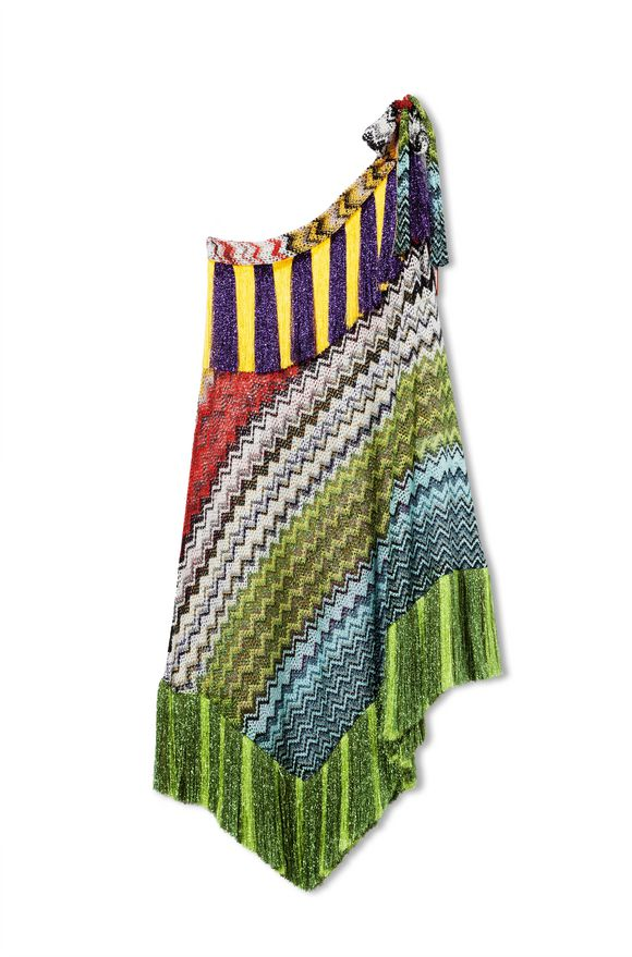 MISSONI Short Beach Dress Green Woman
