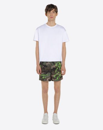 VALENTINO UOMO SWIMSUITS U Camouflage-print swimsuit r