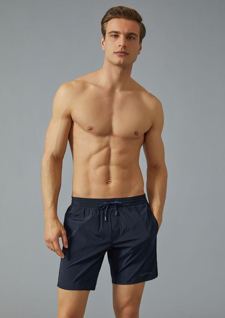 pas cher vente limitée meilleure qualité Maillot de bain boxer avec cordon de serrage