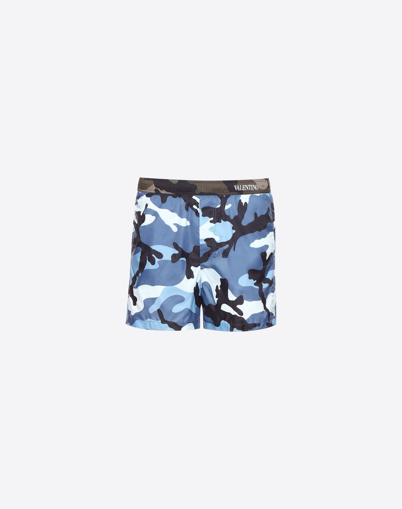 VALENTINO Logo Techno fabric Drawstring closure Camouflage Internal slip Three pockets  47224912bu